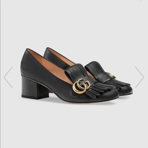 Gucci Women's Mormont Blk Leather 2in Loafer